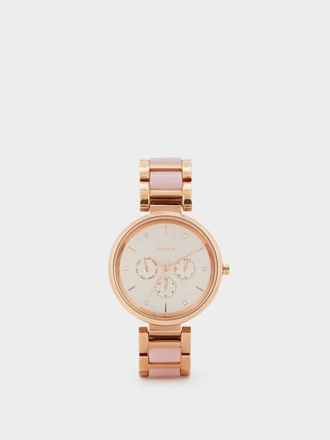 Reloj Pulsera Metálica Bicolor de Parfois en 21 Buttons