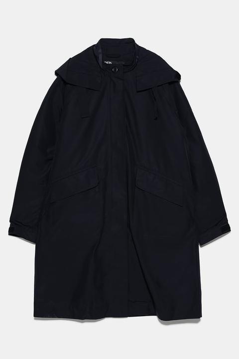 Parka Larga Interior Desmontable de Zara en 21 Buttons