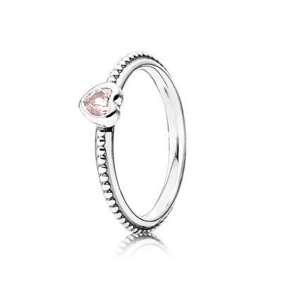 anello cuore pandora argento
