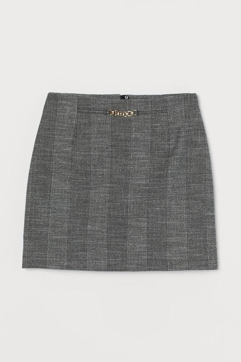 Short Skirt - Grey