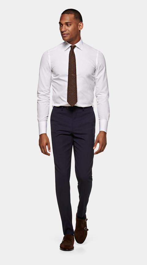 Camisa Oxford Corte Slim Blanca