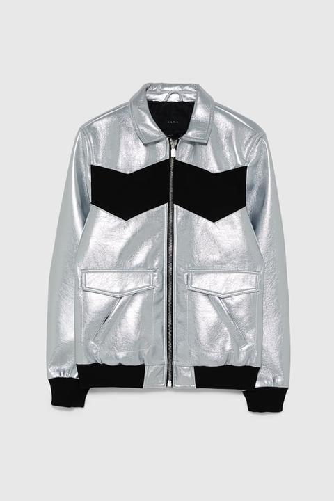 diferentemente Tienda online disfrute del envío de cortesía Cazadora Metalizada Color Block from Zara on 21 Buttons