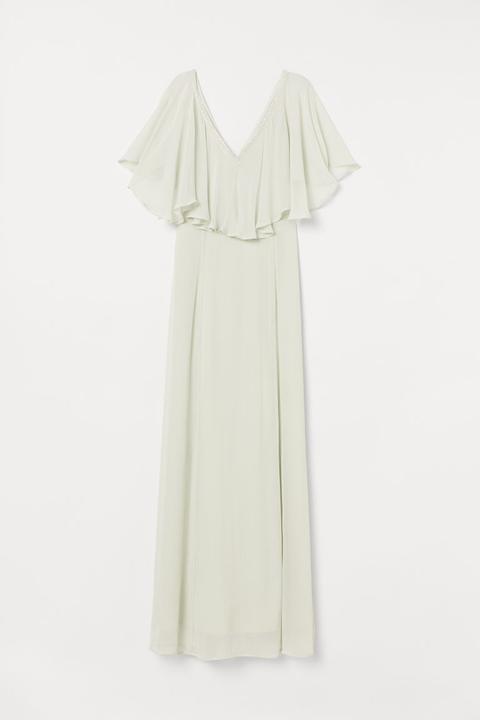 Vestido Largo De Gasa - Verde de H&M en 21 Buttons