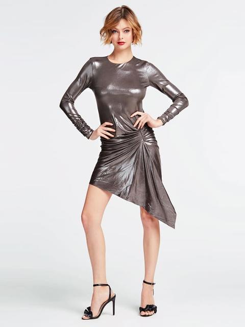 Vestido Marciano Efecto Metálico de Guess en 21 Buttons