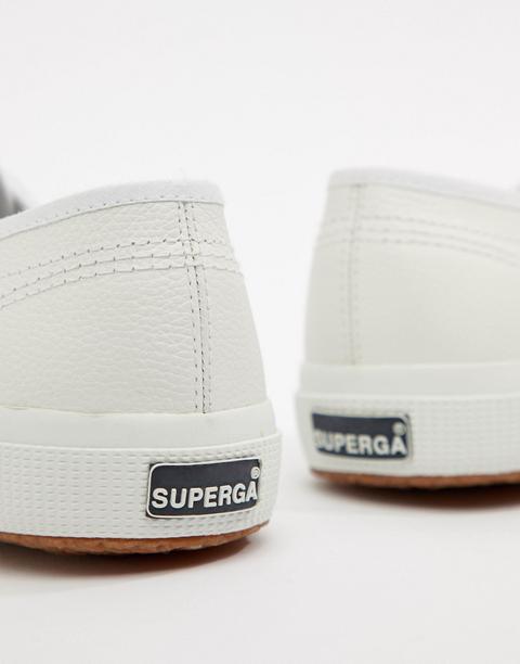 Superga - 2750 - Scarpe Classiche Bianche In Tela E Pelle - Bianco