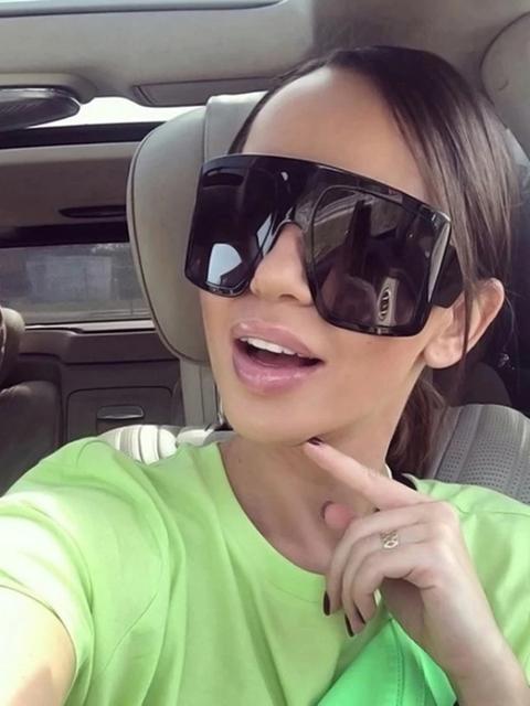 Gafas De Sol Irregulares Anti Rayos Uv Black