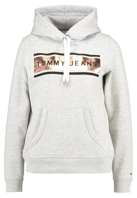 Tommy Jeans Basic Jersey Con Capucha Grey Heather de Zalando en 21 Buttons