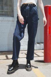 Talia Dark Wash Cargo Jeans de Brandy Melville en 21 Buttons