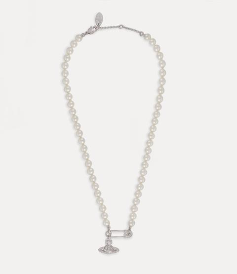 Lucrece Pearl Necklace Silver-tone