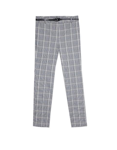 Pantalón Vestir Con Cinturón Checks