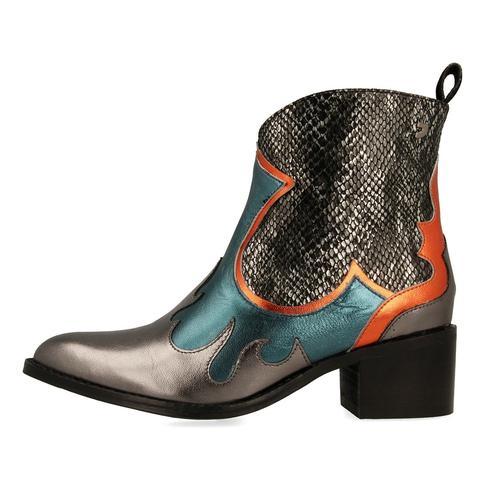 Botines De Estilo Cowboy Multicolores Para Mujer 46164 de Gioseppo en 21 Buttons