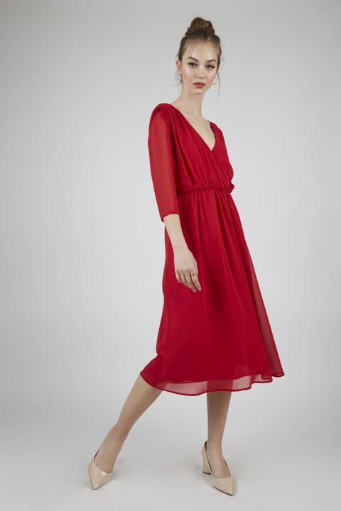 Vestido Gael Rojo de Poète en 21 Buttons