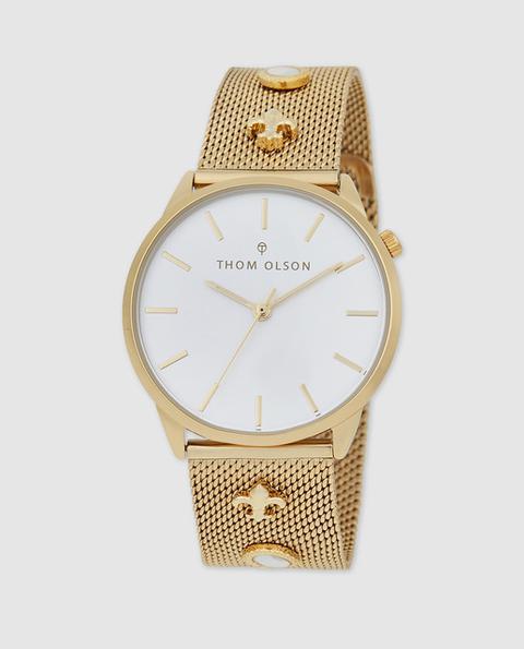 Thom Olson - Reloj De Mujer Gypset Cbto016 De Acero Dorado