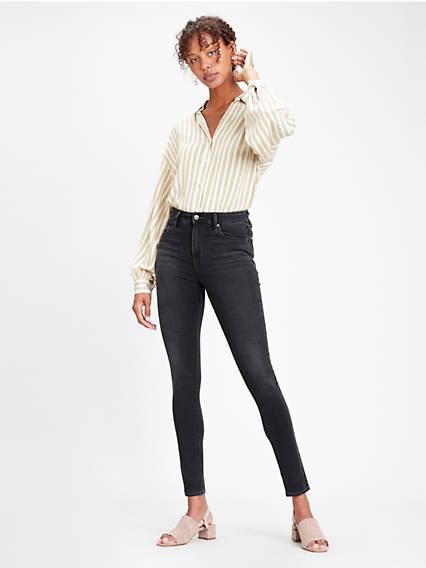 721™ High Rise Skinny Jeans Negro / Shady Acres de Levi's en 21 Buttons
