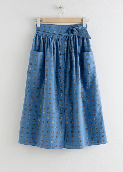 A-line Cotton Midi Skirt de And Other Stories en 21 Buttons