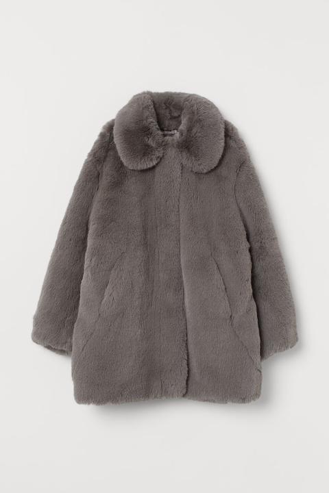 Chaqueta En Pelo Sintético - Gris de H&M en 21 Buttons