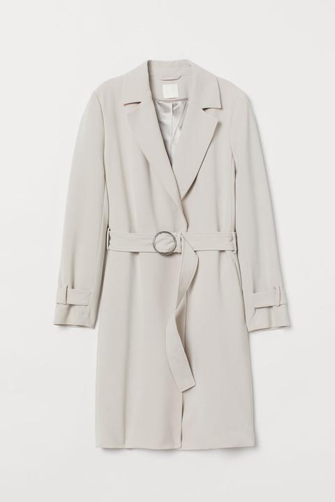 Abrigo Con Cinturón - Marrón de H&M en 21 Buttons