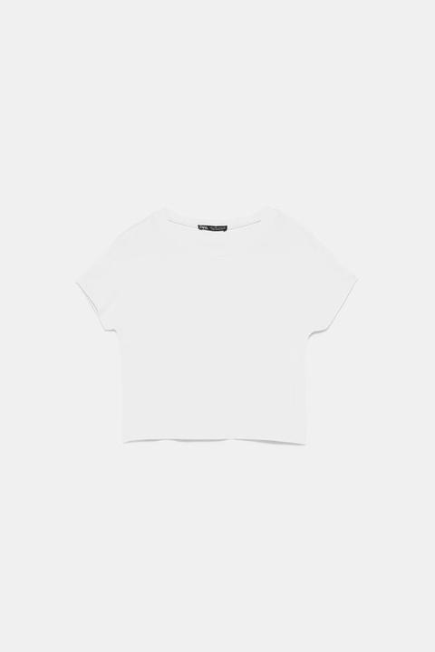 Camiseta Básica Cropped