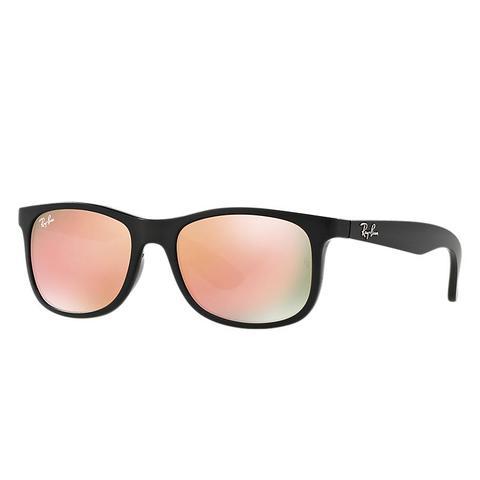 Rj9062s Unisex Sunglasses Lentes: Rosa, Montura: Negro de Ray-Ban en 21 Buttons