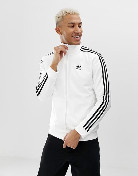 Adidas Originals - Beckenbauer - Giacca Sportiva Bianca - Bianco de ASOS en 21 Buttons