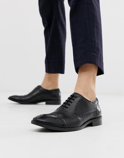 Zapatos Oxford Negros De Vestir Con Cordones De Goodwin Smith de ASOS en 21 Buttons