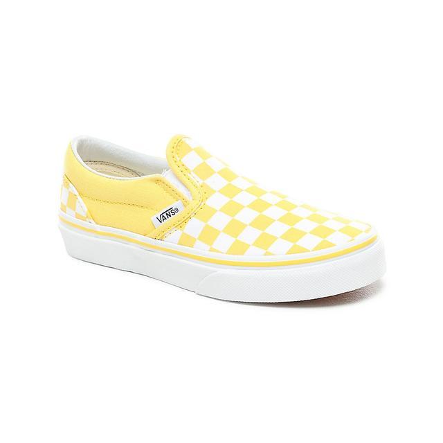 Vans Kids Checkerboard Slip-on Shoes (4