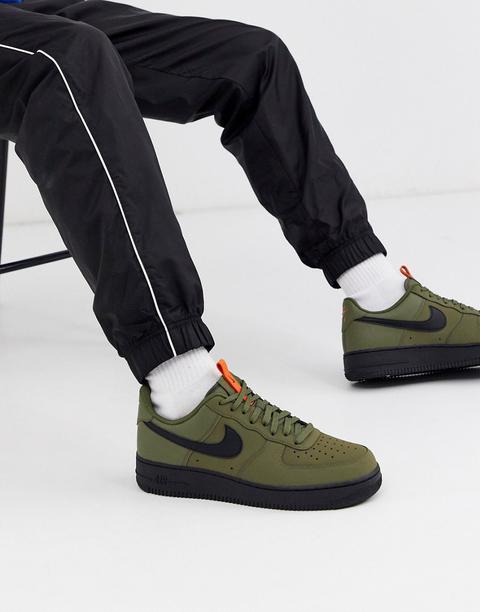 Nike Air Force 1 '07 Trainers In Khaki