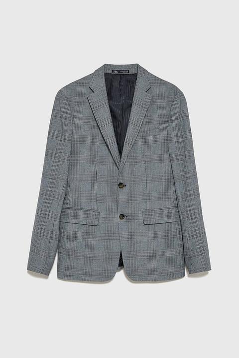 Blazer Conjunto Cuadros de Zara en 21 Buttons