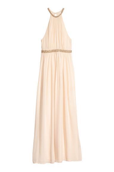 Vestido Largo De Gasa - Blanco de H&M en 21 Buttons