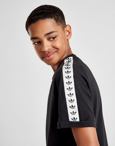 Adidas Originals Tape T shirt Junior Black Kids from Jd Sports on 21 Buttons