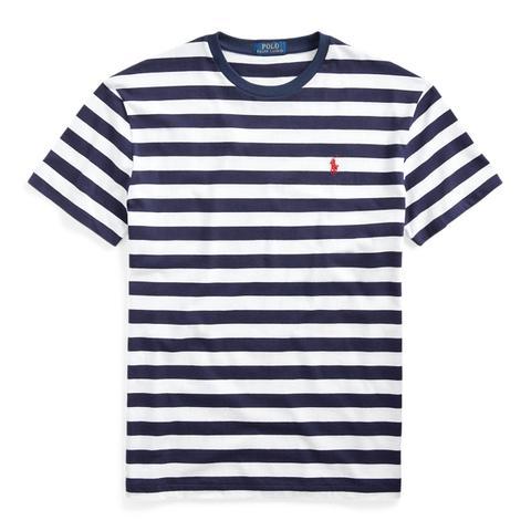 Camiseta A Rayas Custom Slim Fit de Ralph Lauren en 21 Buttons