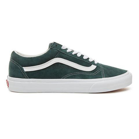 Vans Zapatillas De Ante Old Skool ((pig Suede) Darkest Spruce/true White) Mujer Verde