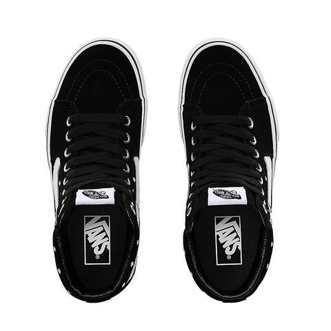 Vans Zapatillas Con Plataforma Polka Dot Sk8-hi 2.0 De Ante ((suede Polka Dot) Black/true White) Mujer Negro