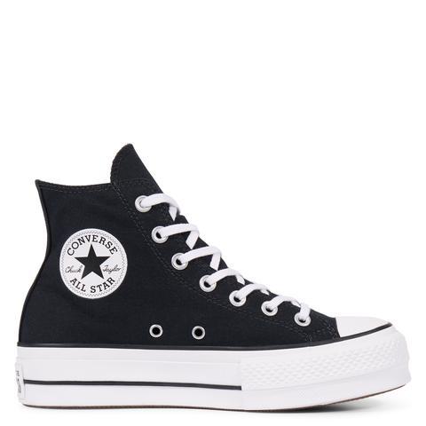 Converse Chuck Taylor All Star Lift High Top Black, White de Converse en 21 Buttons