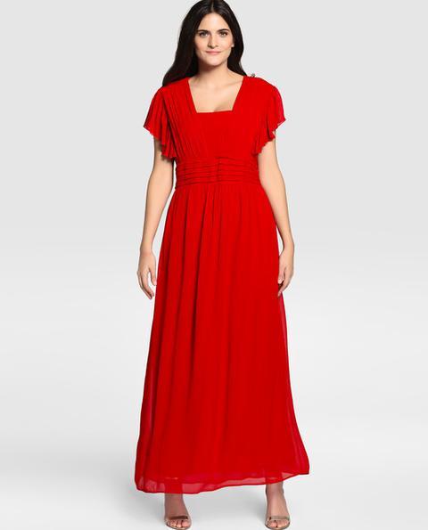 Couchel Vestido Largo De Fiesta De Mujer Talla Grande En Rojo From El Corte Ingles On 21 Buttons