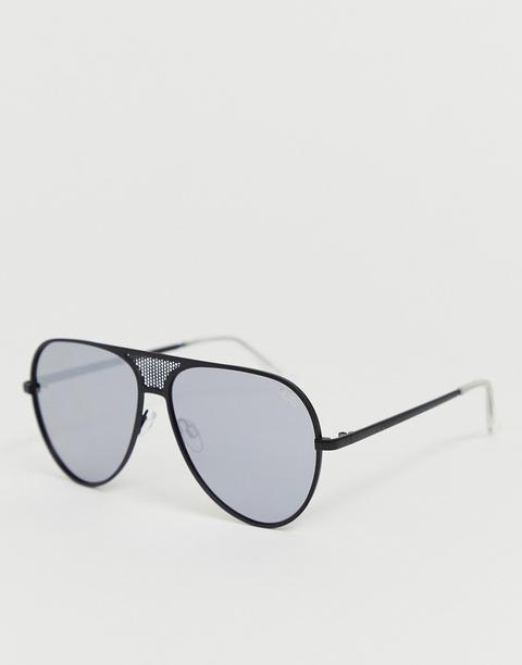 Quay Australia Interlude Sunglasses In Black - Black