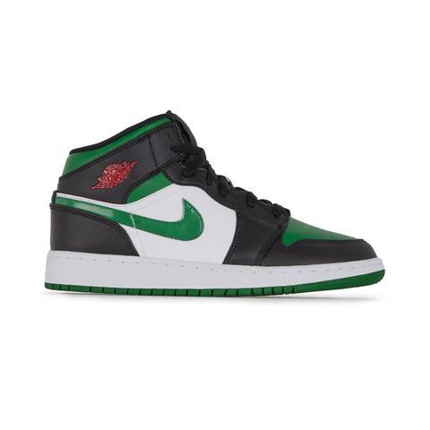 Air Jordan 1 Mid Blanc/vert/noir from Courir on 21 Buttons