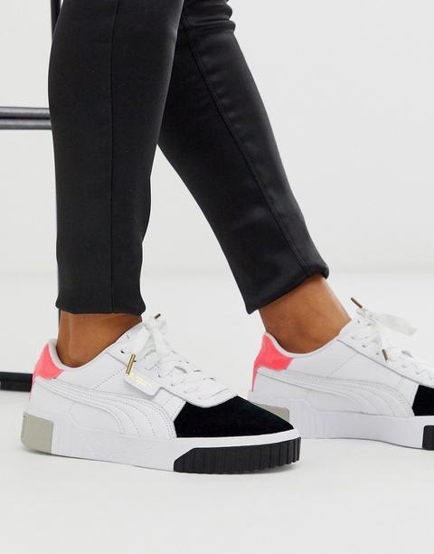 Puma - Cali Remix - Baskets Motif Color Block - Blanc from ASOS on