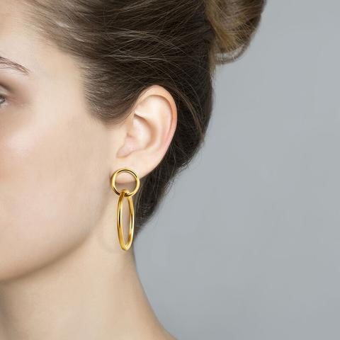 Gold Double Hoop Earring
