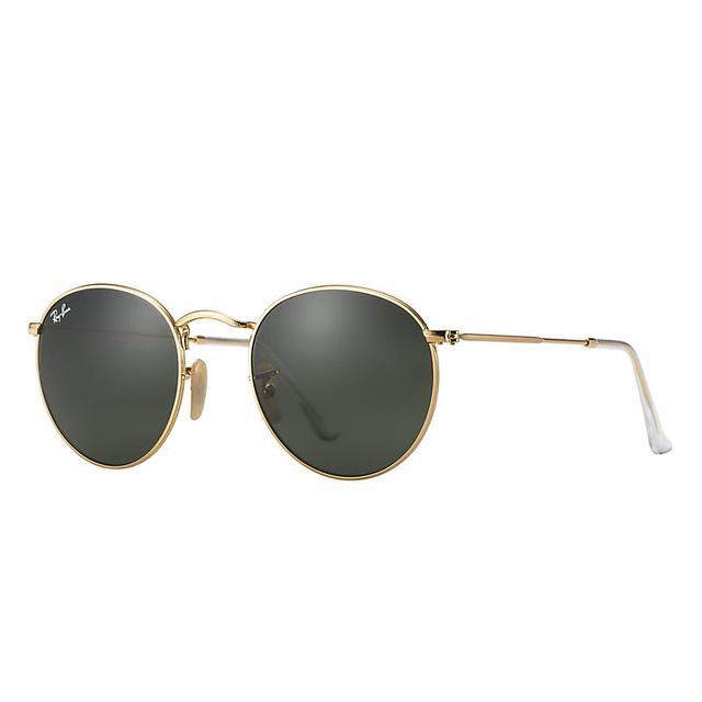 a basso prezzo 6ef31 25c2f Ray Ban Round Metal Unisex Sunglasses Lenti: Verde, Montatura ...