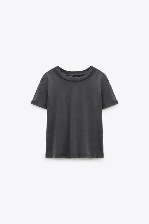 Camiseta Efecto Lavado