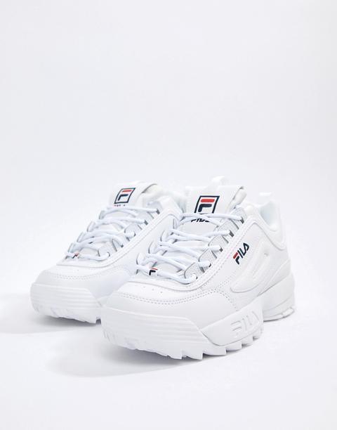 Fila - Disruptor - Scarpe Da Ginnastica Bianche - Bianco de ASOS en 21 Buttons