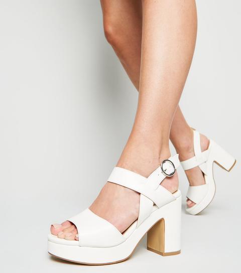 Chunky Block Heel Sandals New Look