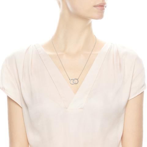 Collar En Plata De Ley Círculos De Pandora