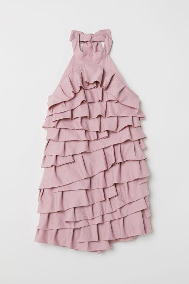 Vestido Corto De Volantes - Naranja de H&M en 21 Buttons