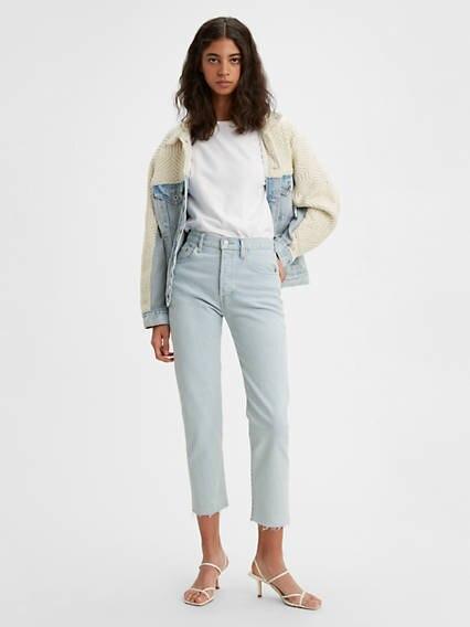 501® Crop Jeans Azul / Bleached Sand de Levi's en 21 Buttons