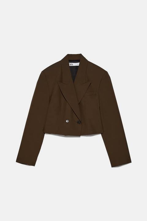Blazer Cropped Cruzada de Zara en 21 Buttons