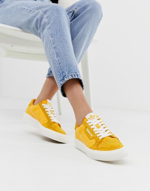 Adidas Originals - Continental 80 - Baskets À Semelle Vulcanisée - Moutarde  from ASOS on 21 Buttons