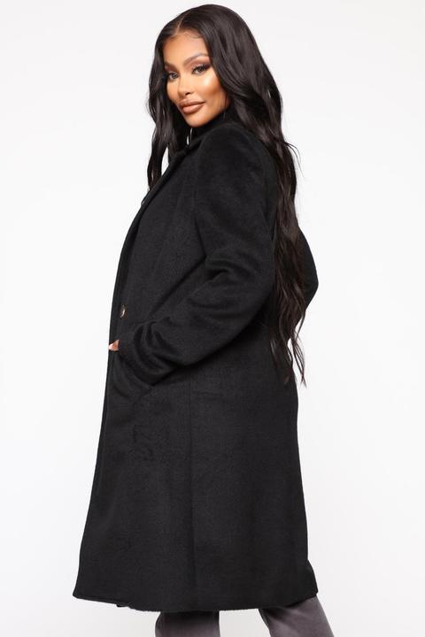Story Coat Black From Fashion Nova, Fashion Nova Pea Coat