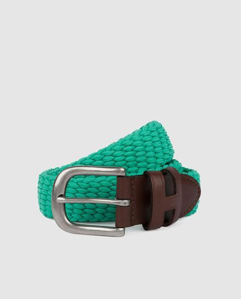 nuevo estilo de 2019 nueva precios más bajos comprar bien Hackett - Cinturón De Niño Trenzado En Verde from El Corte Ingles on 21  Buttons